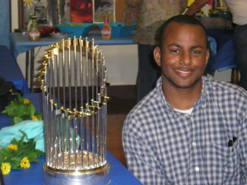 Me With 2007 Red Sox Trophy