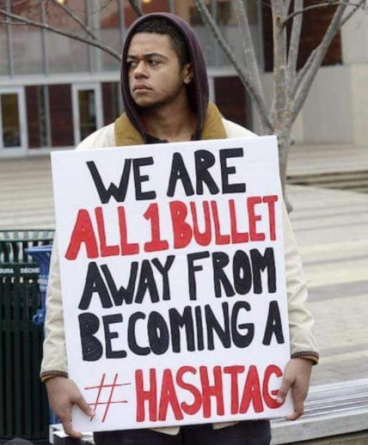 A Bullet from Being a Hashtag